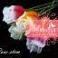 เทียนหอมดอกกุหลาบมีก้าน ดอกตูมและดอกบาน แพ็คถุงแก้ว ผูกเชือกพร้อมใบไม้ thumbnail 1