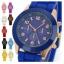Geneva Quartz watches women นาฬิกาผู้หญิง แบรนด์ของฮ่องกง ระบบควอทด์ กันน้ำ กันสนิม สีเหลือง thumbnail 2