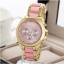geneva Quartz watches women นาฬิกาผู้หญิง แบรนด์ของฮ่องกง ระบบควอทด์ กันน้ำ กันสนิม สีชมพู thumbnail 2