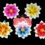 เทียนหอมลอยน้ำดอกบัว แพ็คถุงแก้ว ผูกเชือกพร้อมใบไม้ thumbnail 1