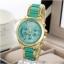 geneva Quartz watches women นาฬิกาผู้หญิง แบรนด์ของฮ่องกง ระบบควอทด์ กันน้ำ กันสนิม สีเขียว thumbnail 2