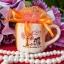 แก้วกาแฟ ทรงกระบอกกลาง สกรีน2สี แพ็คถุงผ้า thumbnail 1