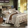 (Pre-order) ชุดผ้าปูที่นอน ปลอกหมอน ปลอกผ้าห่ม ผ้าคลุมเตียง ผ้าลินินเนื้อละเอียดทอลายเพรสลี่ สีคาเมล