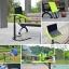 (Pre-order) โต๊ะทำงานปรับระดับ โต๊ะคอมพิวเตอร์ปรับระดับ โต๊ะคอมพิวเตอร์เคลื่อนไป โต๊ะทำงานเคลื่อนที่สีเขียว thumbnail 7