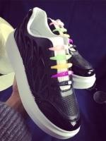 รองเท้าผ้าใบสีดำ เทรนดี้เว่อร์ คูลเว่อร์ เพราะการผูกเชือกรองเท้า มัน Out!! ไปแล้ว หมดปัญหาการผูกเชือกรองเท้าอันแสนยุ่งเหยิง!!! สูง1