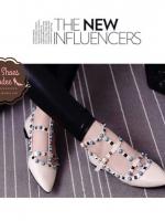 รองเท้าคัชชูสีครีม คัลเลอร์ฟูล 7 สี งาน Valentino แบบชนช้อป สินค้าคอเลคชั่นใหม่ ไฉไล กว่าเดิม วัสดุทำจากหนังpu นิ่มมาก
