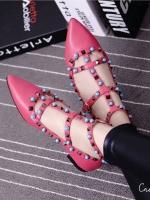 รองเท้าคัชชูสีชมพู คัลเลอร์ฟูล 7 สี งาน Valentino แบบชนช้อป สินค้าคอเลคชั่นใหม่ ไฉไล กว่าเดิม วัสดุทำจากหนังpu นิ่มมาก แนะนำ+1