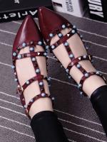 รองเท้าคัชชูสีน้ำตาล คัลเลอร์ฟูล 7 สี งาน Valentino แบบชนช้อป สินค้าคอเลคชั่นใหม่ ไฉไล กว่าเดิม วัสดุทำจากหนังpu นิ่มมาก