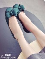 รองเท้าคัชชูสีเขียว หัวตัดผ้าซาติน แต่งโบร์ แบบสวย ใส่ง่าย ใส่สบาย เเมตชุดได้เยอะ หัวตัดหน้ากว่าง เท้าบาน เท้าอูม ใส่ได้ค่ะ ทรงสวย เก็บทรงเท้าดีมาก