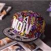 pre order หมวกฮิปฮอป hiphop unisex เท่ๆ สไตล์เกาหลี ลาย mdivสีม่วงขาว