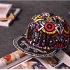 pre order หมวกฮิปฮอป hiphop unisex เท่ๆ สไตล์เกาหลี ลาย mdivสีม่วงดำ