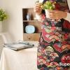 ผ้ากันเปื้อนผู้ใหญ่ลายพัดญี่ปุ่นแสนเก๋ไก๋ by Supergoods