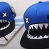 pre order หมวกฮิปฮอป hiphop unisex เท่ๆ สไตล์เกาหลี ลายฉลามหัวเราะฟ้า