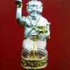 กุมารเพชรลอยองค์ อุดผงพรายกุมาร เนื้อสัมฤทธ์ชุบสามกษัตริย์ หลวงปู่หงษ์ วัดเพชรบุรี อ.ปราสาท จ.สุรินทร์