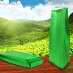 2.6 x 11 นิ้ว + พับข้าง 1 นิ้ว ( 6.5 x 27.5 ซม.+ พับข้าง 2.7 ซม.) สีเขียว ความหนา 180 ไมครอน Food Grade