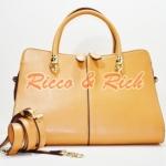 กระเป๋าหนังแท้ Tocia - Caramel