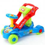 รถผลักเดิน + รถขาไถ 2in1 สีฟ้า (Multi-Functional educational walker)..