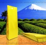 2.6 x 11 นิ้ว + พับข้าง 1 นิ้ว ( 6.5 x 27.5 ซม.+ พับข้าง 2.7 ซม.) สีทอง ความหนา 180 ไมครอน Food Grade