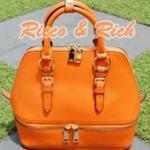 กระเป๋าหนังแท้ Bello - Orange