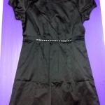 ชุดแซคสีดำผ้ามันเนื้อดีสวมใส่สบาย แขนตุ๊กตา size M