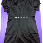 ชุดแซคสีดำผ้ามันเนื้อดีสวมใส่สบาย แขนตุ๊กตา size XL อก 38 นิ้ว เอว 34 นิ้ว ยาว 35 นิ้ว