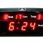 นาฬิกาดิจิตอล แบบตั้งโต๊ะ CX868 สีแดง