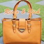 กระเป๋าหนังแท้ Ferlento - Caramel
