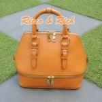 กระเป๋าหนังแท้ Bello - Caramel