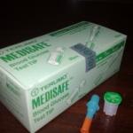 แผ่นตรวจน้ำตาล Terumo Medisafe Mini กล่องเขียว
