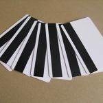 100 ใบ บัตรพรีปริ๊นท์ บัตรแถบแม่เหล็กเปล่าสีขาว แบบไฮโค 3 แทร็ก อ่านได้เขียนได้ คีย์การ์ด คีย์ข้อมูลลูกค้า บัตรสมาชิกเข้ารหัส ส่งฟรี