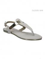 รองเท้าส้นแบนรัดส้น สไตล์เกาหลี (สีขาว )