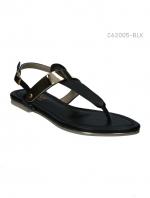 รองเท้าส้นแบนรัดส้น สไตล์เกาหลี (สีดำ )