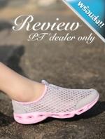รองเท้าผ้าใบผู้หญิงสีเทา แบบตาข่าย ระบายอากาสได้ดี พื้นสีขาว รองรับน้ำหนักได้ดี สวมใส่สบายเท้า ทรงทันสมัย แฟชั่นพร้อมส่ง