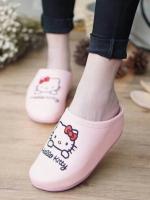 รองเท้าแตะเพื่อสุขภาพลายคิตตี้ (สีชมพูนม)