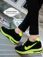 รองเท้าผ้าใบสีเขียว แฟชั่นเสริมส้น สไตล์เกาหลี แบบขายดี ตัดขอบด้วยสีสวยสดใสสะดุดตา แฟชั่นเกาหลี แฟชั่นพร้อมส่ง