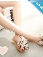 รองเท้าแตะผู้หญิงสีแอปริคอทแบบรัดส้น (สีแอปริคอท)