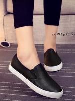 รองเท้าผ้าใบแฟชั่น ทรงนินจา (สีดำ )