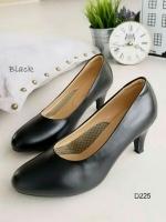 รองเท้าคัชชู สุภาพหน้าตัด (สีดำ)