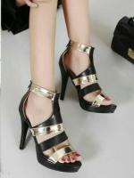 รองเท้าส้นสูง หนังนิ่ม(สีดำ)