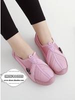 รองเท้าผ้าใบสีชมพู รองเท้าเพื่อสุขภาพ ที่เห็นแล้วต้องเลิฟ พื้นยางอย่างดี สวมใส่ง่าย เดินนุ่มสบาย