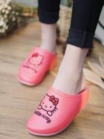 รองเท้าแตะเพื่อสุขภาพลายคิตตี้ (สีชมพูเข้ม)