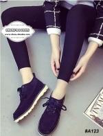 รองเท้าผ้าใบสีดำ งานเเนวDr.Martens งานนำเข้า วัสดุทำจาก ผ้าสักราจ มาพร้อมื้นยางเสริม1นิ้ว