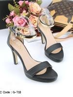 รองเท้าส้นสูงสีดำ คัชชูส้นเข็ม สูง 4 นิ้ว