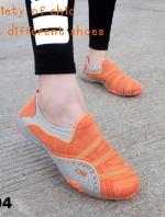 รองเท้าผ้าใบผู้หญิง สไตล์สปอร์ตเกิร์ล (สีส้ม )