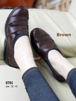 รองเท้าคัทชูผู้หญิง สไตล์ลำลอง (สีน้ำตาล )