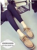 รองเท้าผ้าใบสีแทน งานเเนวDr.Martens งานนำเข้า วัสดุทำจาก ผ้าสักราจ มาพร้อมื้นยางเสริม1นิ้ว