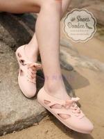 รองเท้าผ้าใบสีครีมนู้ด งานALDO เนื้อซิลิโคนอย่างดี สีลูกกวาดพาสเทล งานชนช้อป กันแดด กันฝน ทนทานสุดๆ