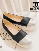 รองเท้าผ้าใบสีดำ ทรงแบบสวมลำลอง งานเกร๋ๆ พื้นหนา1.5นิ้ว สไตส์ใสๆชิคๆ มาแล้วคร่า