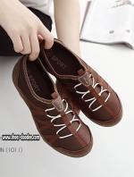 รองเท้าผ้าใบสีน้ำตาล เพื่อสุขภาพ ที่เห็นแล้วLove พื้นยางอย่างดี ใส่ง่าย ถอดง่าย ไม่ต้องนั่งผูกเชือก
