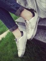 รองเท้าผ้าใบสีดำ ลำลองนำเข้า style GGDB แบบที่กัปตันยูใส่ในDOS สุดclassic วัสดุทำจากหนัง นิ่ม ใส่สบาย+1